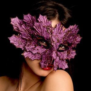 Máscara Veneziana Brilhante Roxa