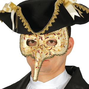 Máscara Veneziana com Nariz Longo