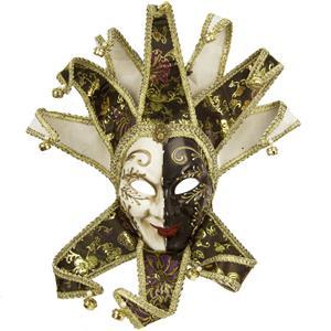 Máscara Veneziana Joker Preta