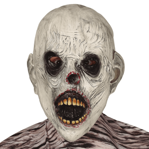Máscara Zombie Boca Aberta em Latex
