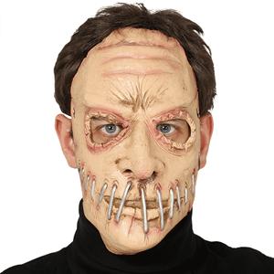 Máscara Zombie Boca Cosida em Látex