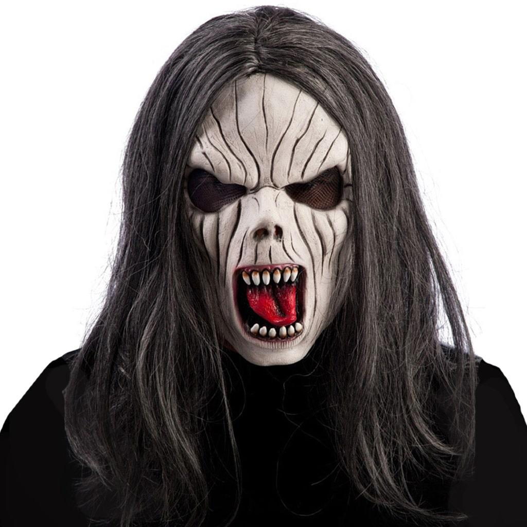 Máscara Zombie com Cabelo