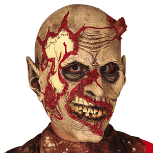 Máscara Zombie com Estaca em Latex