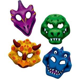 Máscaras Espécies de Dinossauros, 4 unid