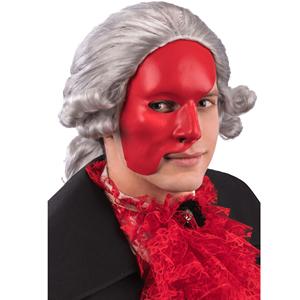 Mascarilha Fantasma Opera Vermelha em Plástico