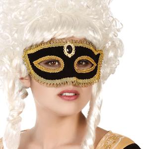 Mascarilha Preta e Dourada Veneziana
