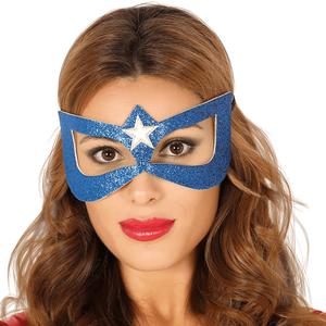 Mascarilha Super-Heroína Azul