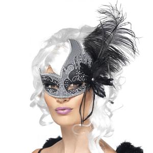 Mascarilha Veneza Anjo Negro