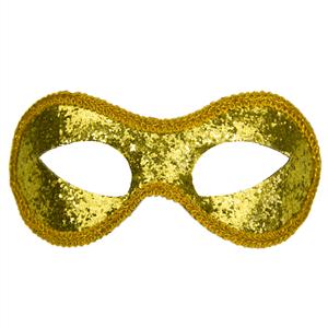Mascarilha Veneziana com Purpurina Dourada