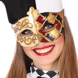 Mascarilha Veneziana Dourada com Relevos