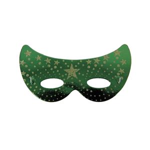 Mascarilha Verde Brilhante Cartão