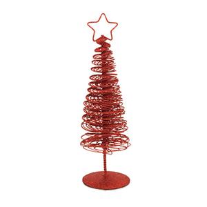 Mini Árvore de Natal em Metal com Purpurinas, 25 Cm