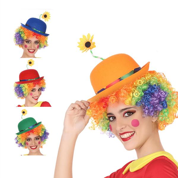Chapéu Palhaço com Flor