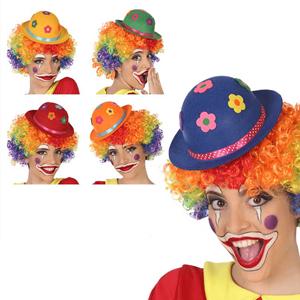 Mini Chapéu de Palhaço com Flores