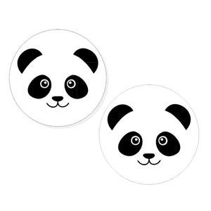 Mini Crachás Panda, 2 unid.