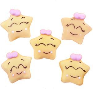 Mini Estrelas Amarelas em Biscuit, 5 unid.