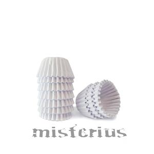 Mini Formas Brancas em Papel Redondas, 100un