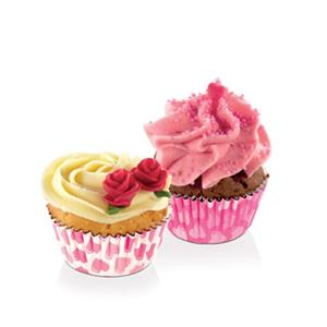 Mini Formas Cupcake Corações, Tescoma, 100 unid.