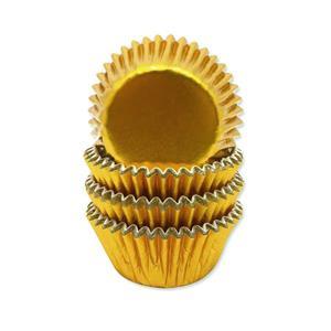 Mini Formas Dourado Metalizado, 60 unid.