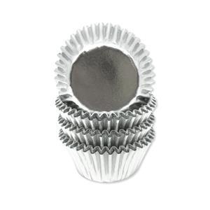 Mini Formas Prateado Metalizado, 60 unid.
