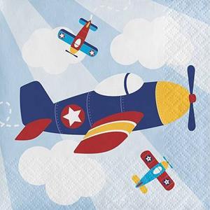 Mini Guardanapos Avião a Voar, 16 unid.
