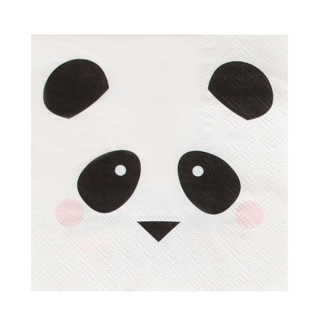 Mini Guardanapos Panda Amoroso, 20 unid.