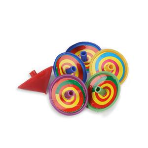 Mini Piões Coloridos, 6 Unid.