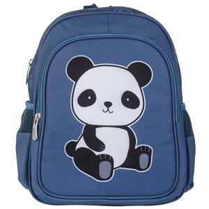 Mochila Escolar Panda Amoroso Azul