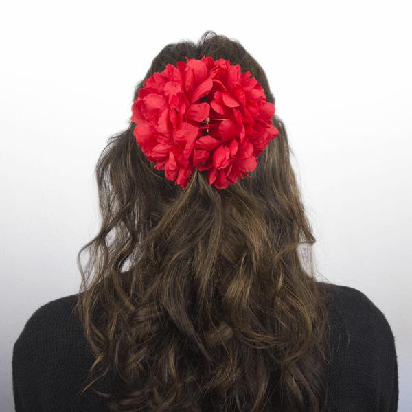 Mola Flor Sevilhana Vermelha