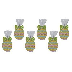 Molas Ovos da Páscoa Coloridos, 6 unid.