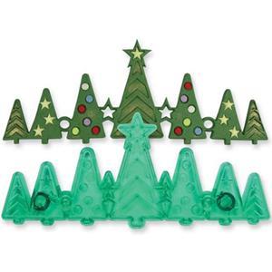 Molde com 7 Árvores de Natal