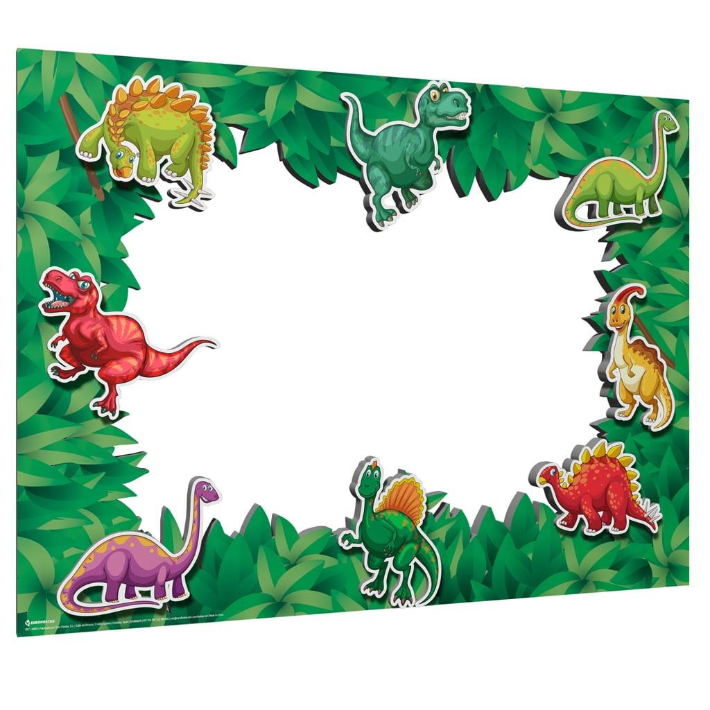 Moldura Photobooth Dinossauros, 80 x 60 cm