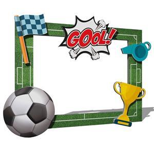 Moldura Photobooth Futebol, 80 x 60 cm