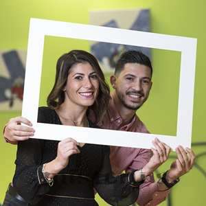 Moldura Photobooth Personalizável 68 x 46 cm