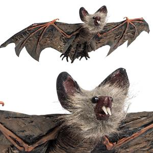 Morcego Preto Orelhas Peludas Halloween