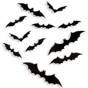 Morcegos Decorativos 3D, 12 unid.