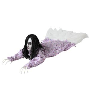 Mulher Zombie com luz e som, Halloween