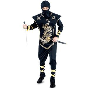 Fato Ninja Dragão Dourado, Adulto