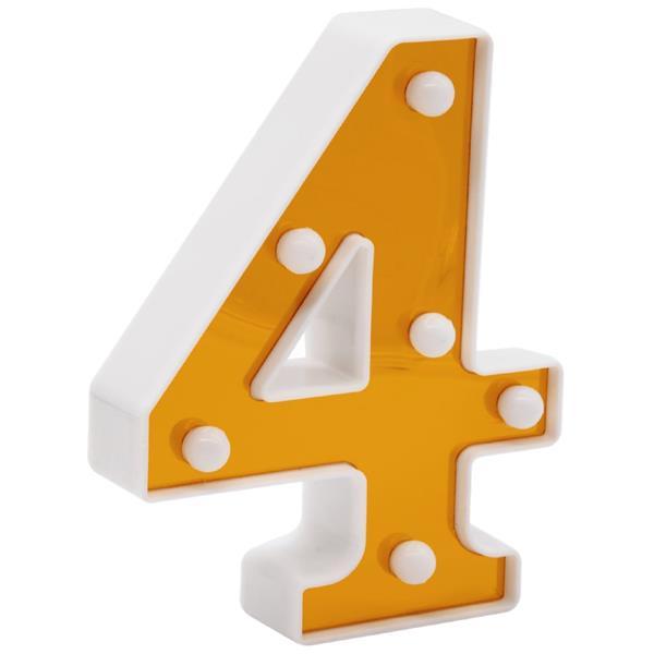 Número Luminoso Dourado, 16 cm