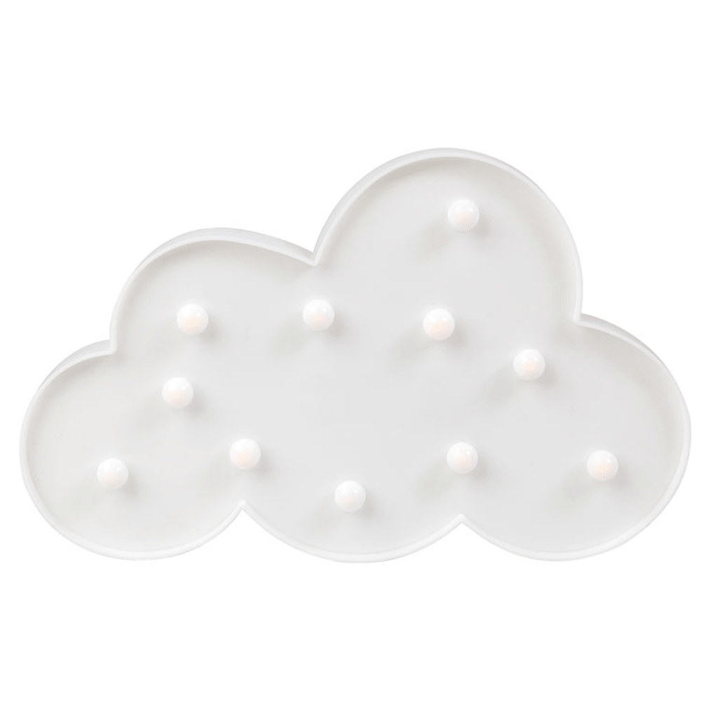 Nuvem Branca Decorativa com Luz, 29 cm