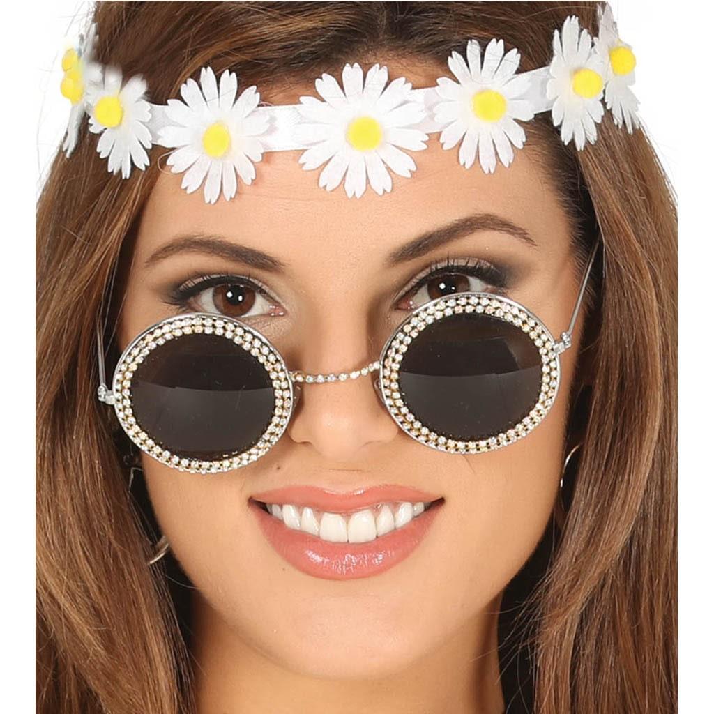 Óculos Anos 50 com brilhantes