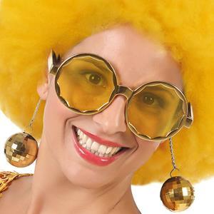 Óculos Disco Dourados