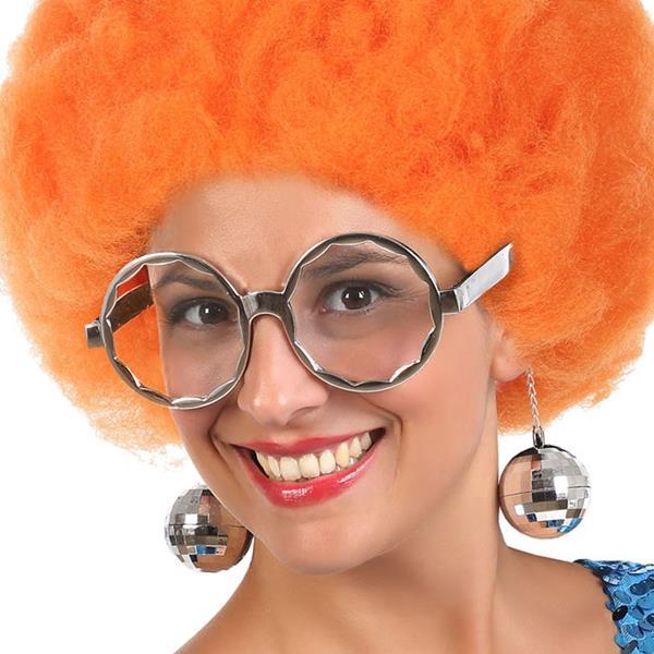 Óculos Disco Prateados
