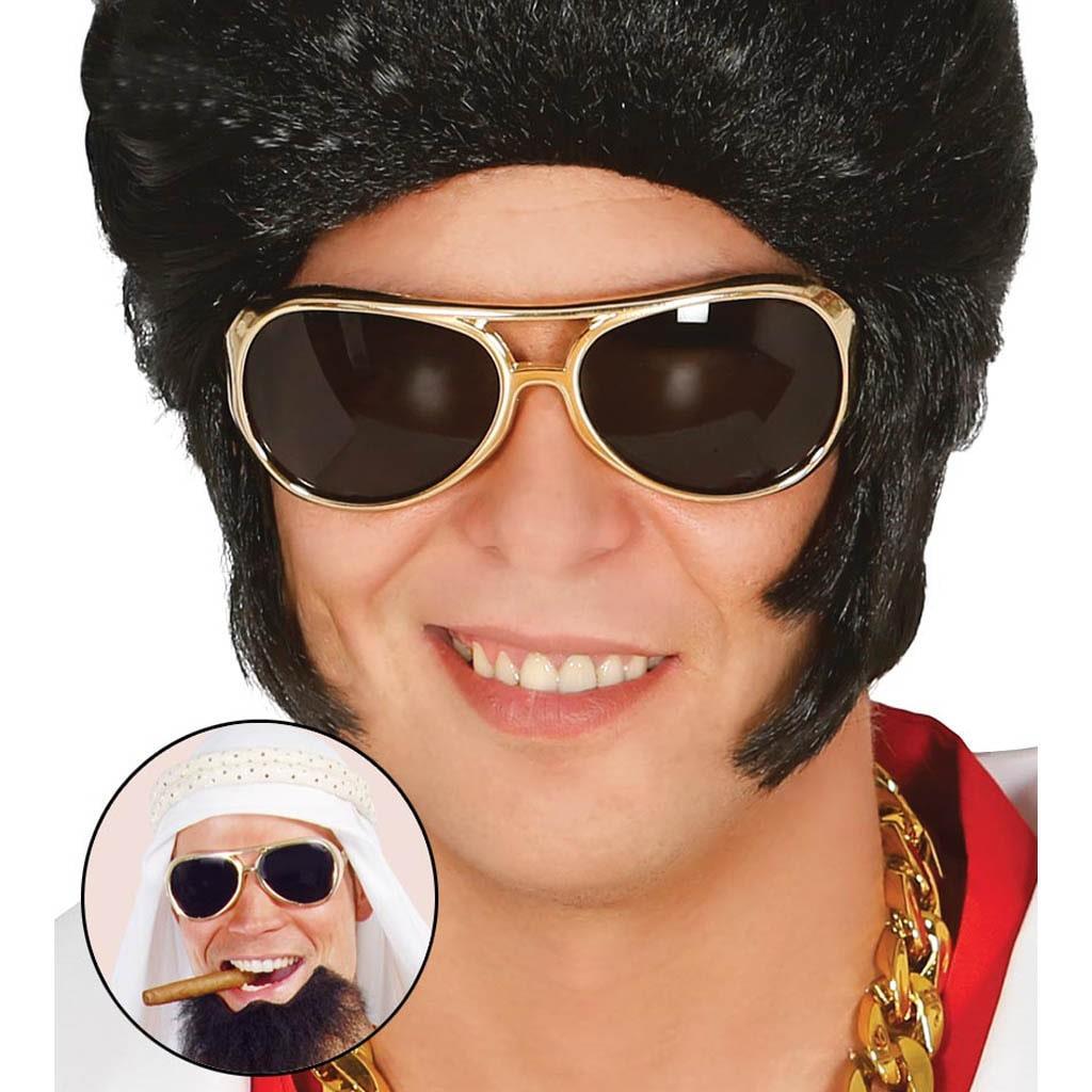 Óculos Elvis Dourados