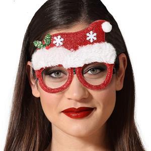 Óculos Gorro de Natal com Purpurina