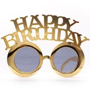 Óculos Happy Birthday Dourado