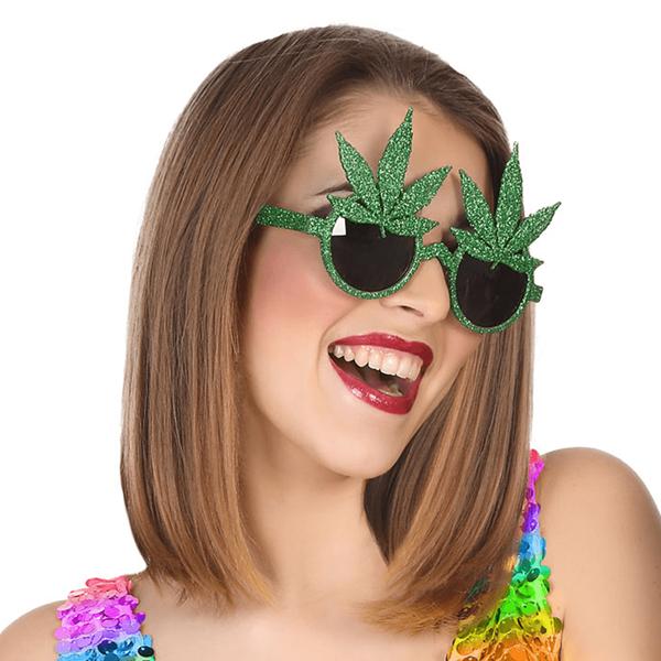 Óculos Havai com Folhas