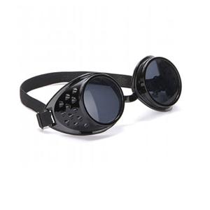 Óculos Piloto Pretos em Plástico, Adulto