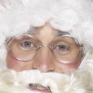 Óculos Redondos Prateados Pai Natal