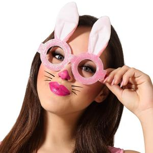 Óculos Rosa Coelha da Páscoa